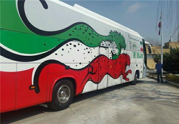 رونمایی از اتوبوس مدرن تیم ملی+عکس