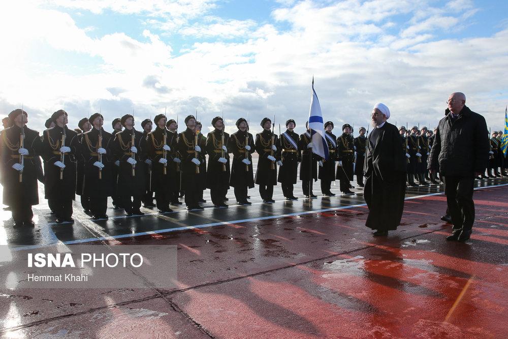 آلبوم عکس استقبال از روحانی در روسیه