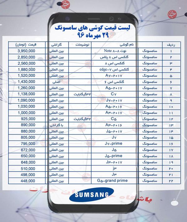 قیمت روز گوشی همراه عکس