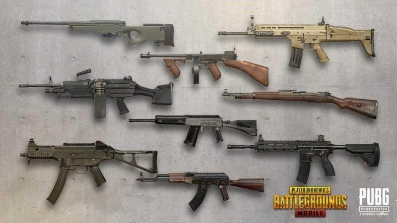 بررسی سلاح ها و قدرت آن ها در بازی پابجی موبایل