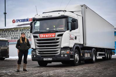 یوگنیا مارکووا، راننده تریلی سنگین